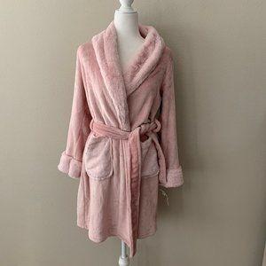NWT! Charter Club Plush Faux Fur Pink Short Robe